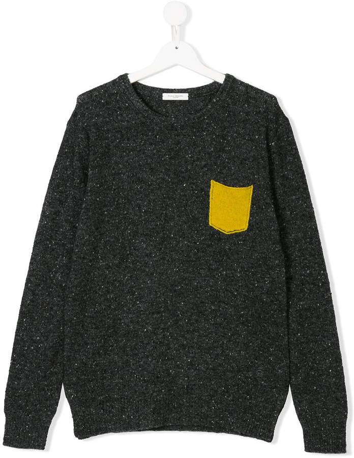 Paolo Pecora Kids Teen chest pocket jumper