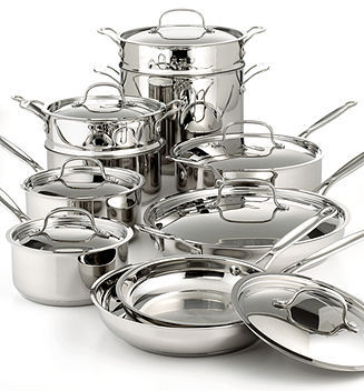 Cuisinart Chef's Classic Stainless 17 Piece Cookware Set
