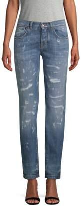 Dolce & Gabbana Women's Distressed Boyfriend Fit Jeans