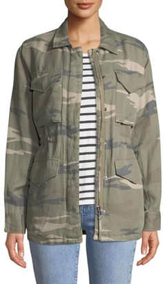 Rails Whitaker Camo-Print Zip-Front Utility Jacket