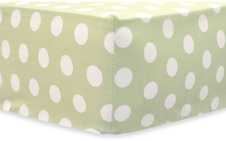 My Baby Sam Pixie Baby Crib Sheet in Pink/Green