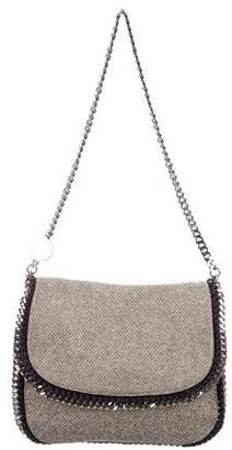 Stella McCartney Woven Boucle Falabella Flap Bag