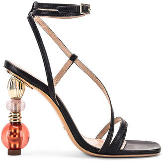 Jacquemus Bordighera Sandal in Black | FWRD