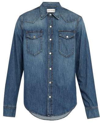 Privee Salle Salle Rohe Denim Shirt - Mens - Blue