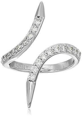Nicole Miller New York Arrow Crossover Pave Ring