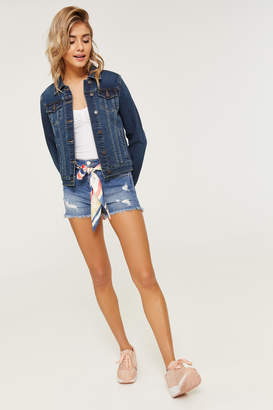 347a1d444e Ardene Sashed High Rise Jean Shorties