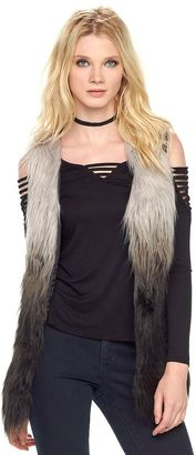 Women's Rock & Republic® Ombre Faux-Fur Vest $78 thestylecure.com