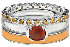 Simply Stacks Sterling Rustic Fall Ring Set