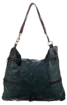 Jas M.B. Multi-Zip Leather Shoulder Bag