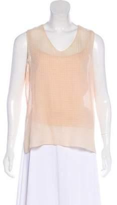 Chanel Silk Polka Dot Top
