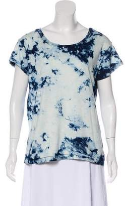 Current/Elliott Printed Short Sleeve Top