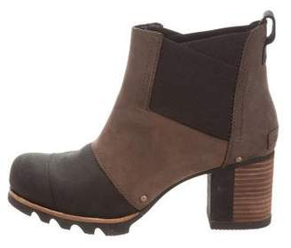 Sorel Suede Round-Toe Ankle Boots