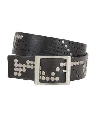 Pieces Accessories Sille Stud Leather Jeans Belt