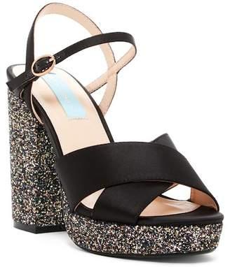 Betsey Johnson Ollie Glitter Platform Sandal