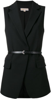 Michael Michael Kors belted waistcoat $323.54 thestylecure.com
