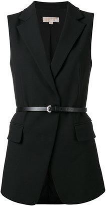 Michael Michael Kors belted waistcoat $297.68 thestylecure.com