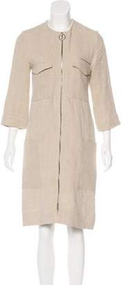 Celine Linen Knee-Length Coat