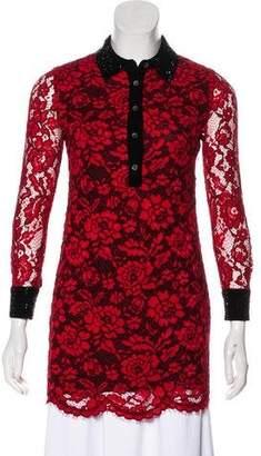 Diane von Furstenberg Embellished Lace Tunic