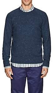 Fioroni Men's Marled Cashmere Sweater-Blue