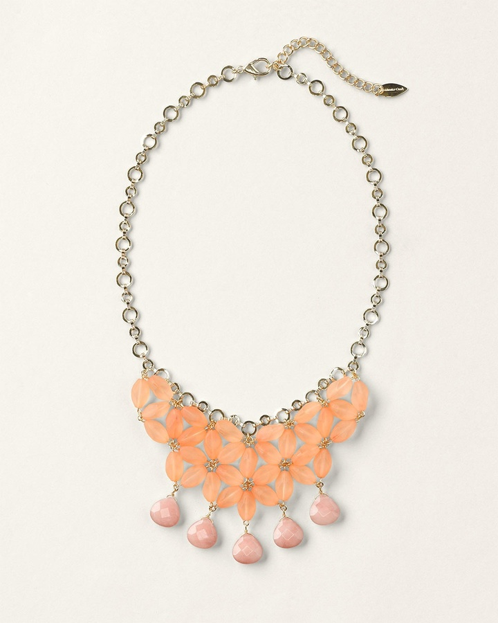 Coldwater Creek Floral bib necklace