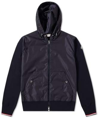 Moncler Nylon Front Zip Hooded Knit