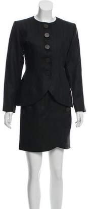 Saint Laurent Linen Skirt Suit