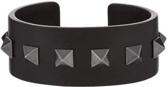 Valentino Medium Leather Cuff Bracelet