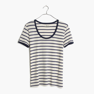 Recycled Cotton Ringer Tee in Harmon Stripe $32 thestylecure.com