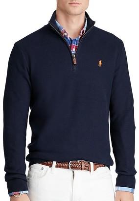 Polo Ralph Lauren Pima Cotton Half-Zip Sweater $98.50 thestylecure.com
