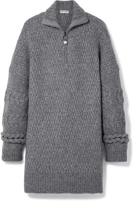 Opening Ceremony Oversized Cable-knit Wool-blend Sweater - Gray