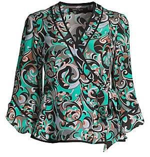 e2992048 Nanette Lepore Women's Silk Wrap Blouse