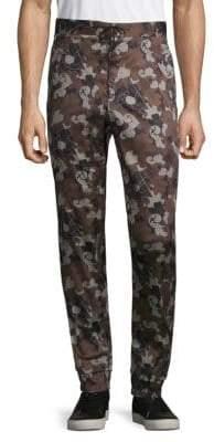 Versace Pantaloni Tess Floral Pants