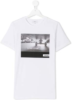 DKNY TEEN photographic-print T-shirt