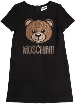 Moschino Crystal Embellished Toy Sweater Dress