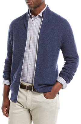 Neiman Marcus Men's Zip-Front Cashmere Sweater