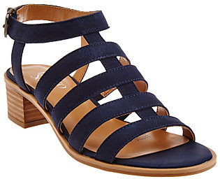 As Is Franco Sarto Leather Multi-strap Sandals - Oriele $40 thestylecure.com
