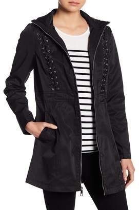 GUESS Lace-Up Coat