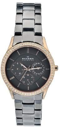 Skagen Women's 347LRXM Quartz Stainless Steel Case Dial Chronograph Watch
