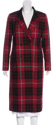 Each X Other Plaid Wool Coat