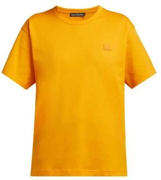 Acne Studios Nash Face Cotton Jersey T Shirt - Womens - Orange