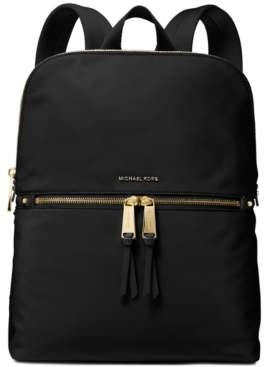 Michael Kors Michael Slim Zip Nylon Backpack