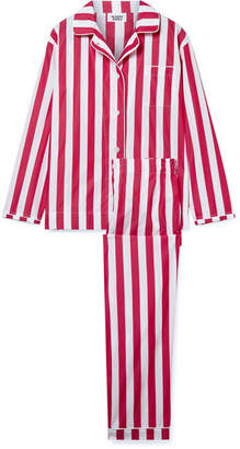 Sleepy Jones - Bishop Striped Cotton Pajama Set - Red
