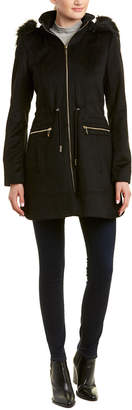 Laundry by Shelli Segal Cinched Wool-Blend Coat