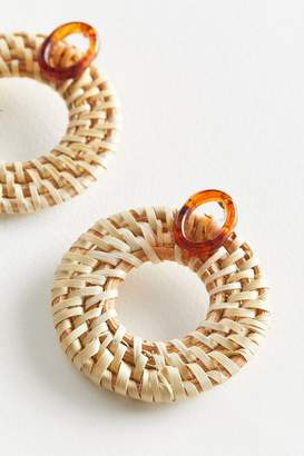 Urban Outfitters Bali Basket Weave Statement Earring