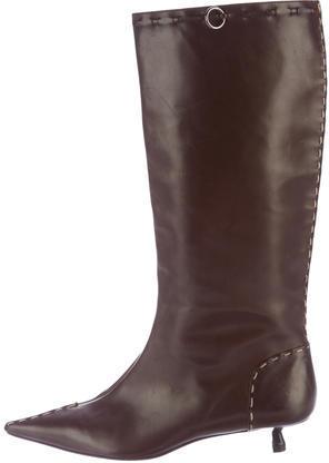 FendiFendi Pointed Drawstring Boots