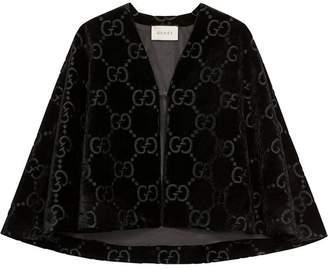 Gucci GG velvet cape