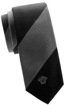 Versace Striped Silk Tie
