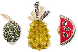 Alexis Bittar Fruit Pin Set w/ Crystals