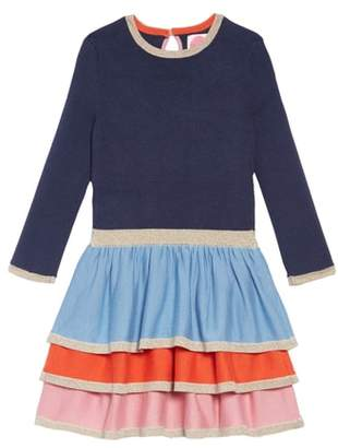 Boden Mini Frill Tiered Sweater Dress