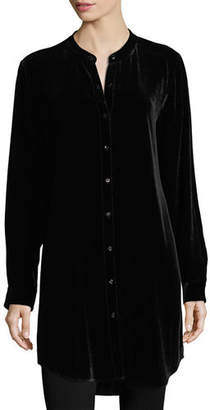 Eileen Fisher Long Washable Velvet Tunic Top, Plus Size